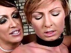 Mistress painfully punishing her slavegirl