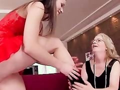 Grannies and Teens in Lesbian Action