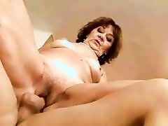Ugly fat granny gets fucked rough