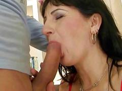 Naughty grandma gets fucked pretty hard