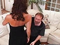 Tiny Tit Slut Wife Trained to Swallow Sperm