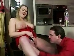 Guy and a busty bitch pissing and fucking