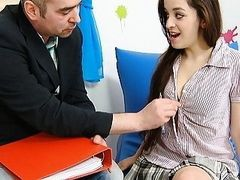 Mila knows all too well that her tight pussy is priceless She even fucks teachers for Agrades