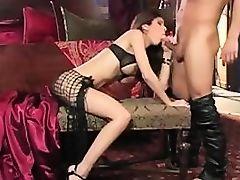 StrapOn Mistress fucks her slave