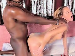 Hollie gets an intense interracial fuck