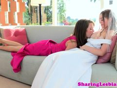 Bride Aurielee Summers seduced by bridesmaids