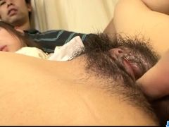 Chie Inamori deals cocks in each of her holes