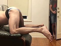 Huge anonymous cock destroys a man pussy