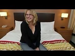 Big Boobed Mature Gets Cum On Her Glasses