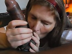 Beautiful Big Black Cock Blowjob 25