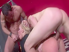 Crazy pornstar in incredible threesome, gaping porn movie