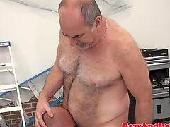 Silver wolf fucks bearded bear raw