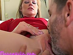 Lady In Red Gets Fucked Hard By Mature Neighbor