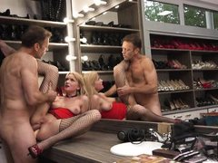 rocco siffredi drilled two horny chicks @ rocco's perfect slaves