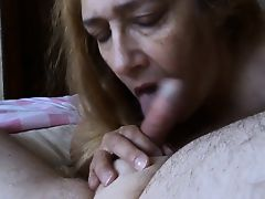 Hot GILF Gives Head