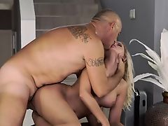 Eating pussy and getting fucked old grandpa Finally at