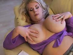 Milf teasing huge tits