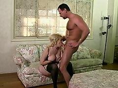 Busty older slut gets a mouthful