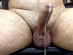 Str8 daddy hands free & cum