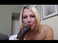 black dildo for a milf