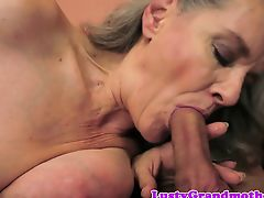 Mature lady fucked after sucking cock