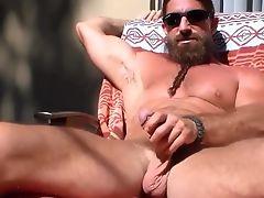long bearded muscle guy solo #4