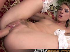 HDVPass Janet Alfano receives gooey anal creampie