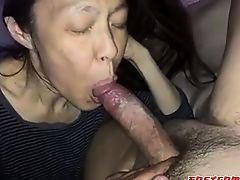 Amateur Asian Mature sucking