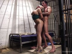 kagney karter roughly fucked in prison