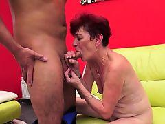 Mature whore gets railed