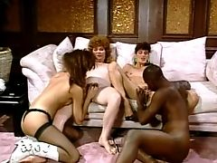 Renee Morgan, Sharon Mitchell, Sharon Lee (shemale) foursome