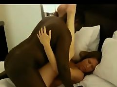 Interracial amateur couple POV blowjob