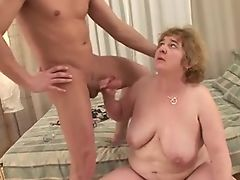 Hairy sexy BBW granny gets fucked