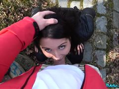 Martin Gun & Rachel Adjani in French Tourist Fucked in Public Stairwell - PublicAgent