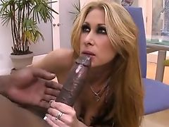 Very hot MILF interracial cumswallow