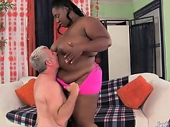Thick black girl takes fat dick