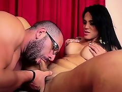 Latin shemale fetish with cumshot
