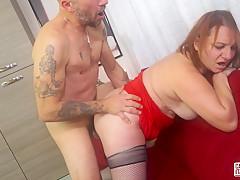 CASTING ALLA ITALIANA - Juicy anal with horny mature Italian amateur Kiara Rizzi and Omar Galanti