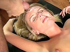 small tit blonde bukkake