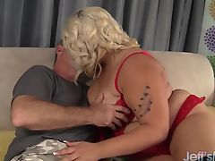Blonde BBW jade Rose taking a fat dick