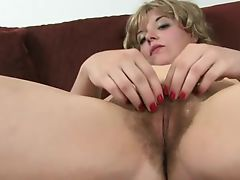 hairy girl spread 1