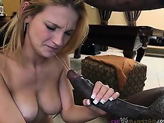 Hopes Pussy Finally Slammed By Monster Cock