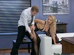 Sexy Boss Alix Lynx Gets Her Pussy Destroyed