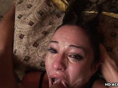 hungry bitch gets mouth fucked