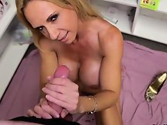 Milf Offers Her Helping Hand With Cum Filled Sack