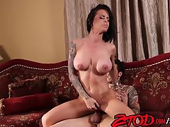 Brandy Aniston tries out her daughters boyfriend for her