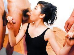 Fabulous Japanese slut Rei Asamiya in Incredible JAV uncensored Group Sex video