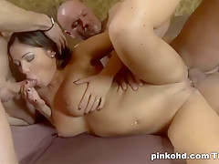 Hottest pornstar Angelica Heart in Crazy Brunette, DP sex video