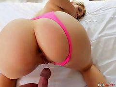 Nice POV panty sex with blonde hottie