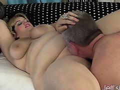 BBW Buxom Bella takes fat cock